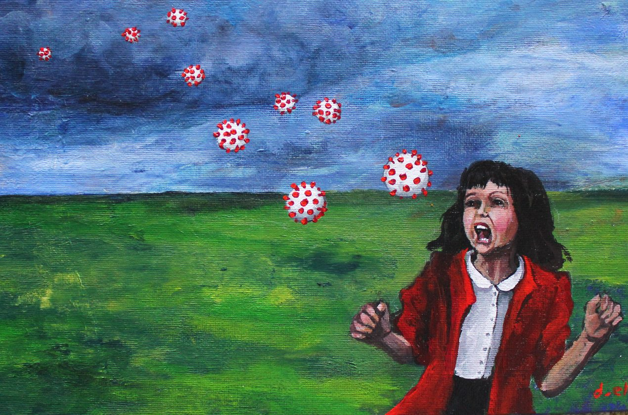 """Ellyn's life is reflected through her paintings. ״Run and Hide"""""""
